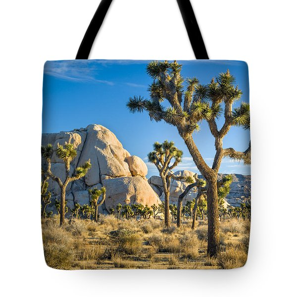Joshua Tree And Intersection Rock Tote Bag
