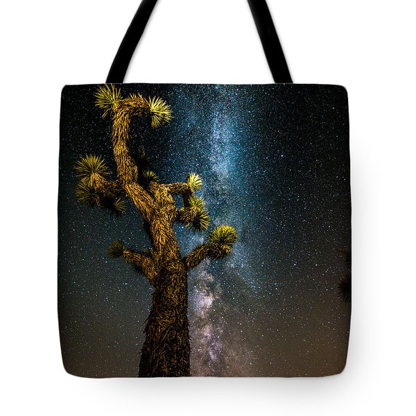 Joshua Tree And Milky Way Tote Bag