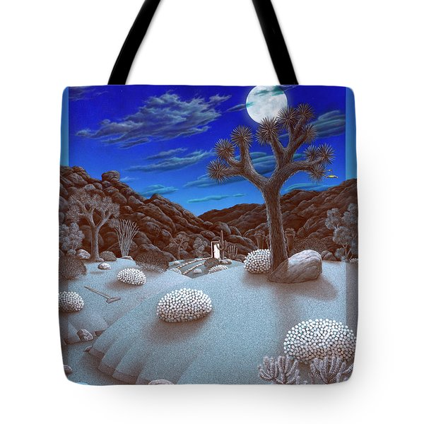Joshua Tree At Night Tote Bag by Snake Jagger