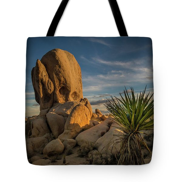Joshua Tree Rock Formation Tote Bag
