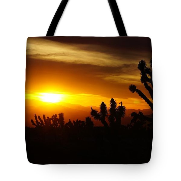 Joshua Tree Sunset In Nevada Tote Bag