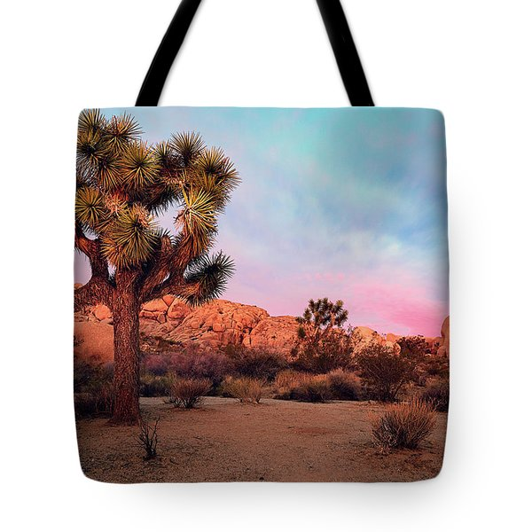 Joshua Tree With Dawn's Early Light Tote Bag