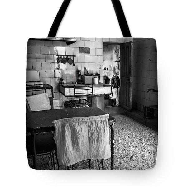 Tote Bag featuring the photograph Josie's Kitchen Havana Cuba by Joan Carroll