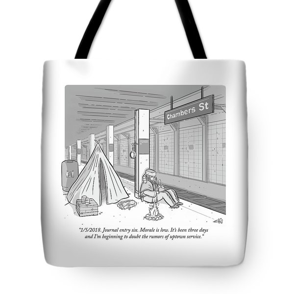 Journal Entry Six Morale Is Low Tote Bag
