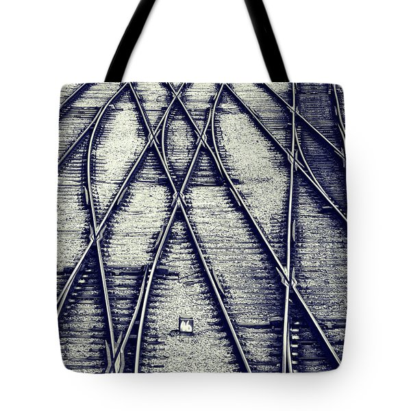 Tote Bag featuring the photograph Journey Marks by Wayne Sherriff