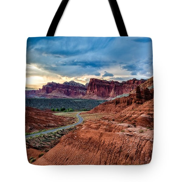 Tote Bag featuring the photograph Journey Through Capitol Reef by Jason Roberts