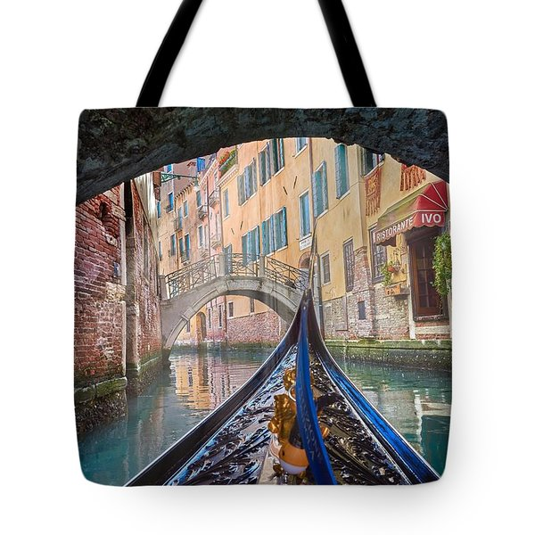 Journey Through Dreams - A Ride On The Canals Of Venice, Italy Tote Bag
