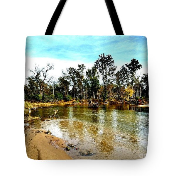 Journey To The Rivers Bend Tote Bag