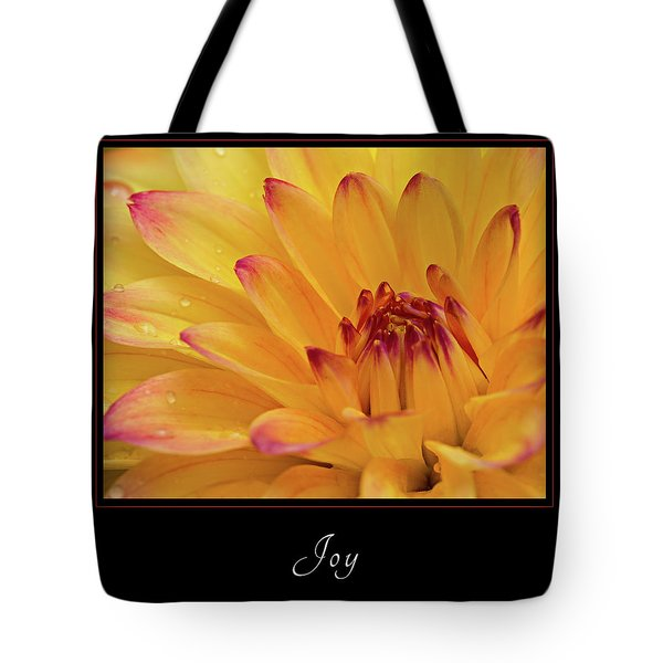 Tote Bag featuring the photograph Joy 1 by Mary Jo Allen