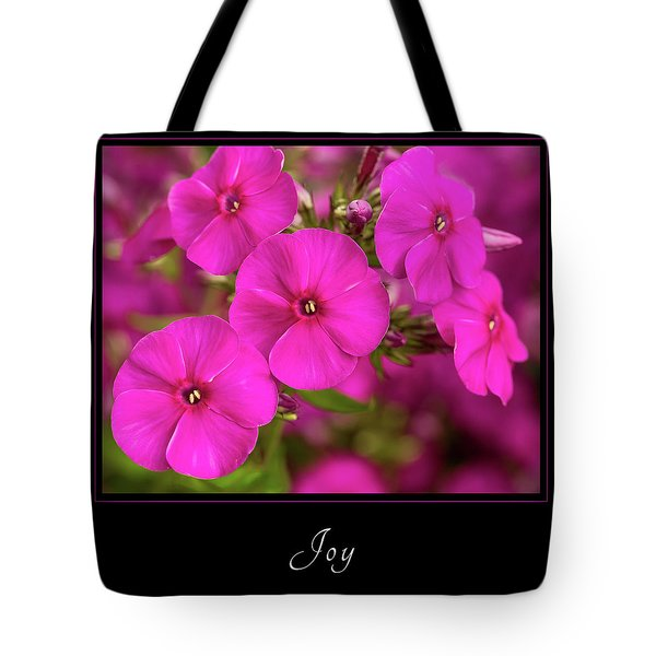 Tote Bag featuring the photograph Joy 2 by Mary Jo Allen