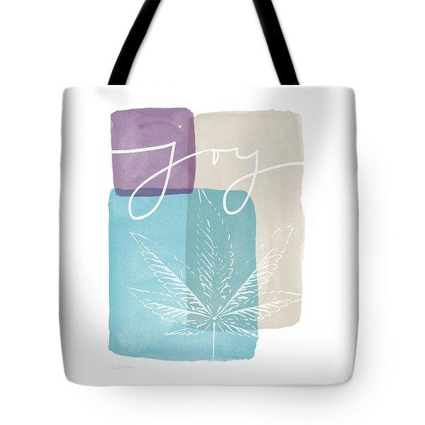 Joy Cannabis Leaf Watercolor- Art By Linda Woods Tote Bag by Linda Woods