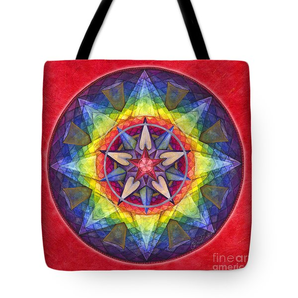 Joy Mandala Tote Bag