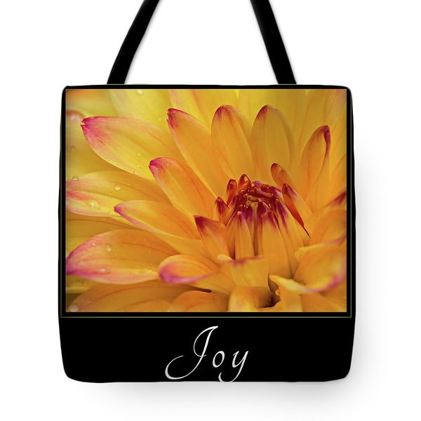 Tote Bag featuring the photograph Joy by Mary Jo Allen