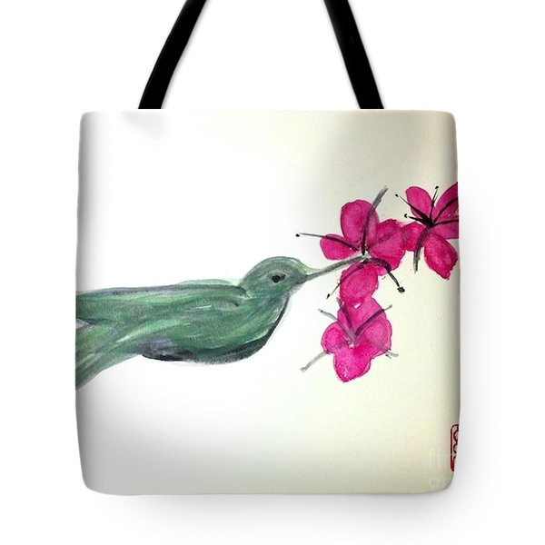 Joy Of Hummingbird Tote Bag