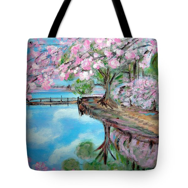 Joy Of Spring. Acrylic Painting For Sale Tote Bag