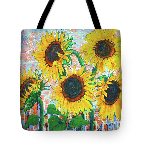 Joy Of Sunflowers Desiring Tote Bag