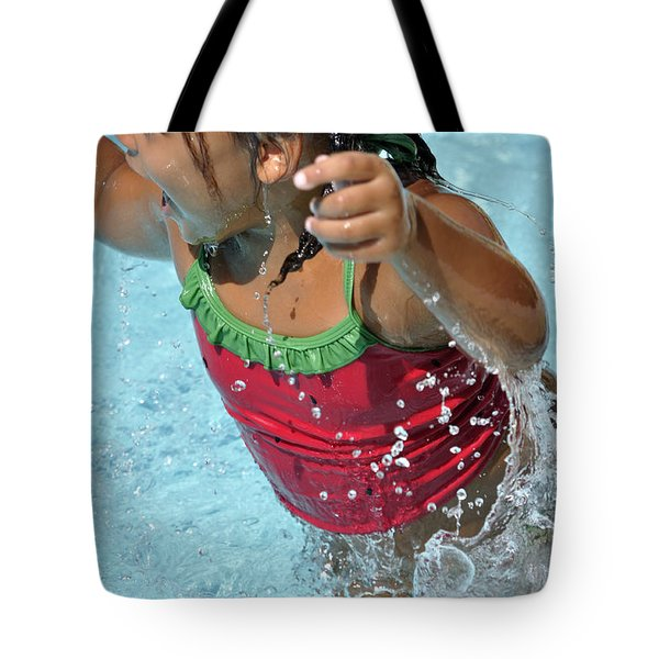Joy Of Swimming Tote Bag
