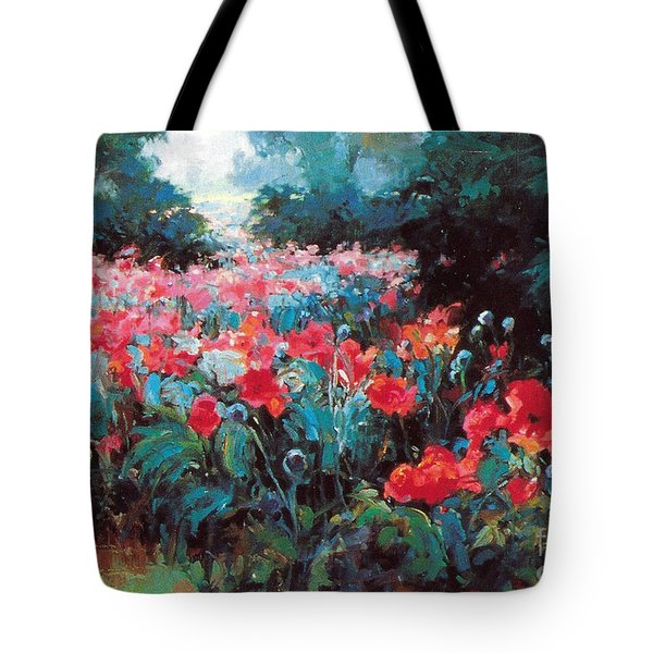 Tote Bag featuring the painting Joy by Rosario Piazza