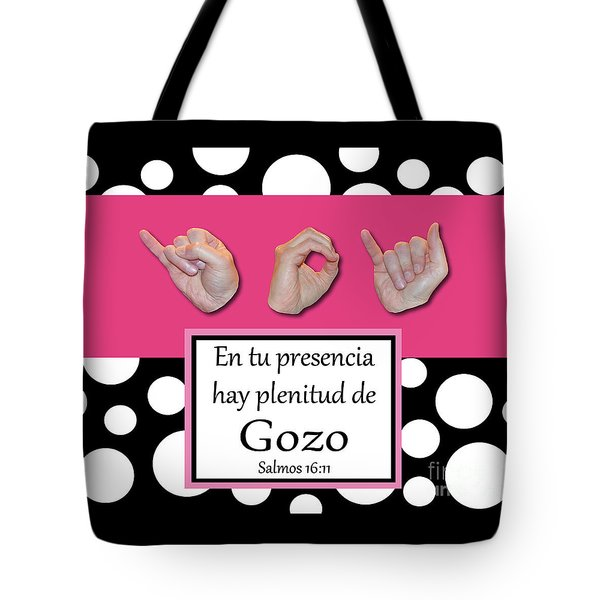 Joy Spanish - Bw Graphic Tote Bag