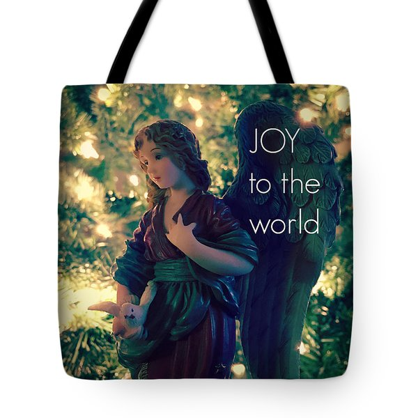 Joy To The World Christmas Angel Tote Bag