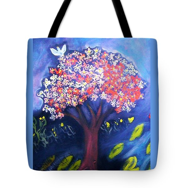 Tote Bag featuring the painting Joy by Winsome Gunning