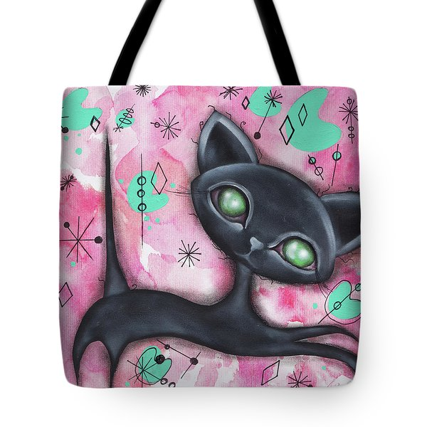 Joyce Cat Tote Bag by Abril Andrade Griffith