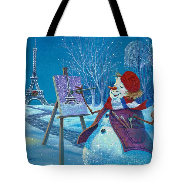 Tote Bag featuring the painting Joyeux Noel by Michael Humphries