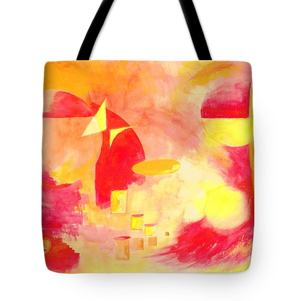 Joyful Abstract Tote Bag by Andrew Gillette