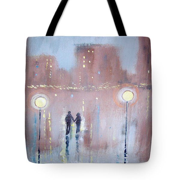Tote Bag featuring the painting Joyful Bliss by Raymond Doward
