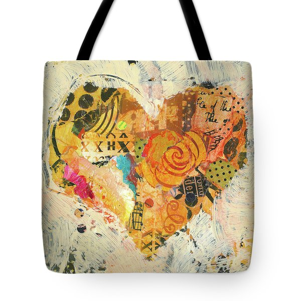 Tote Bag featuring the painting Joyful Heart 12 by Shelli Walters