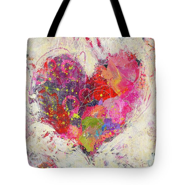 Tote Bag featuring the painting Joyful Heart 3 by Shelli Walters