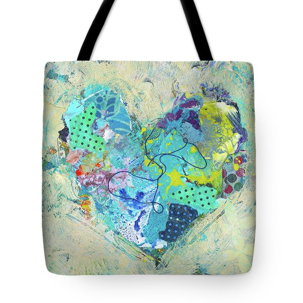 Tote Bag featuring the painting Joyful Heart 4 by Shelli Walters