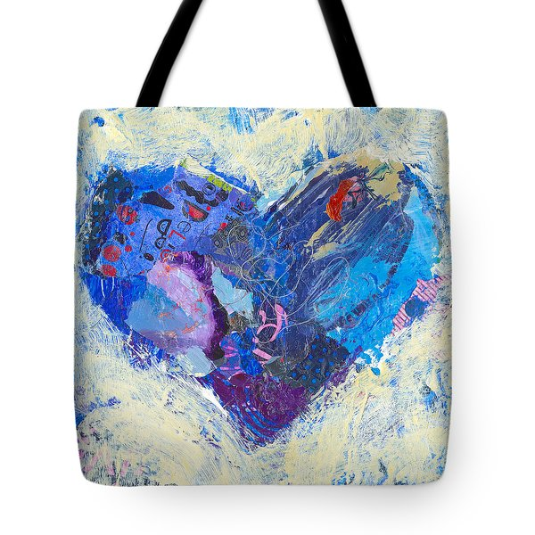 Tote Bag featuring the painting Joyful Heart 8 by Shelli Walters