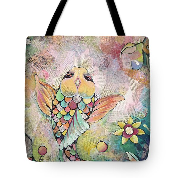 Joyful Koi I Tote Bag by Shadia Derbyshire