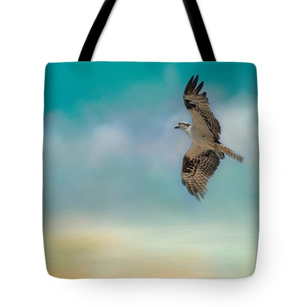 Joyful Morning Flight - Osprey Tote Bag by Jai Johnson