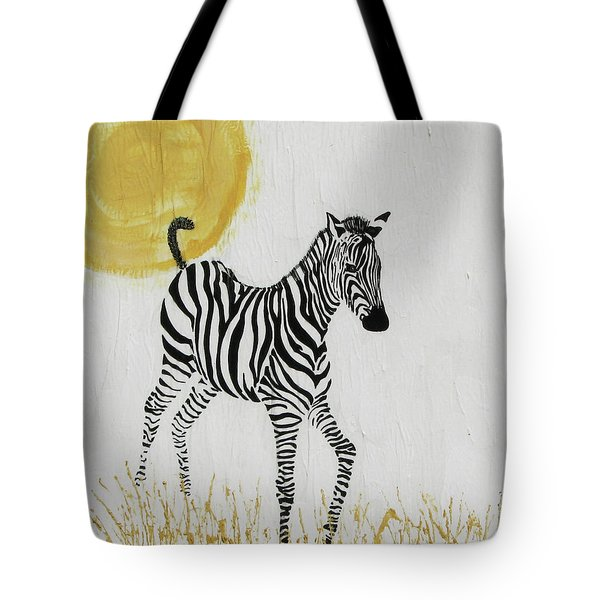 Tote Bag featuring the painting Joyful by Stephanie Grant