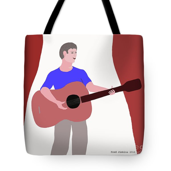 Joyful Young Musician Tote Bag