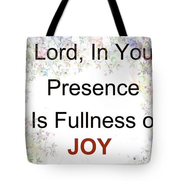 Joys Of Life Tote Bag by Trilby Cole