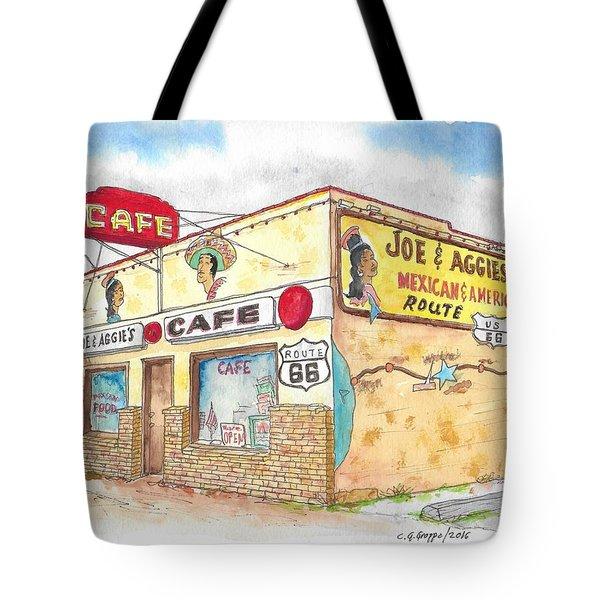 Joe And Aggies Cafe, Route 66, Holbrook, Arizona Tote Bag