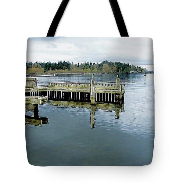 Juanita Bay In Gray Tote Bag