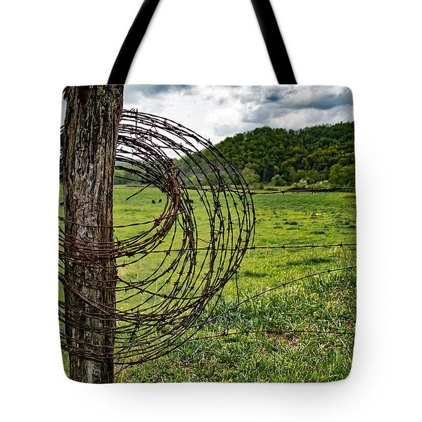 Tote Bag featuring the photograph Judaculla Ranch by Mark Guinn