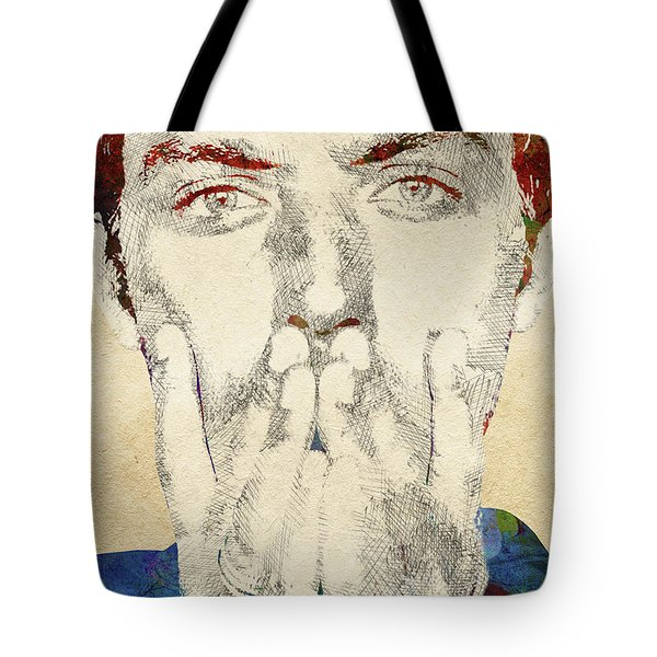 Jude Law Tote Bag by Mihaela Pater