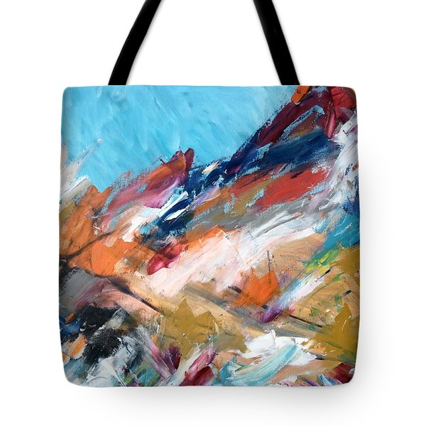 Judean Hill Abstract Tote Bag by Esther Newman-Cohen