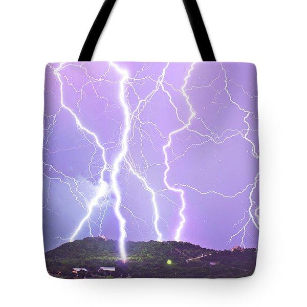 Judgement Day Lightning Tote Bag