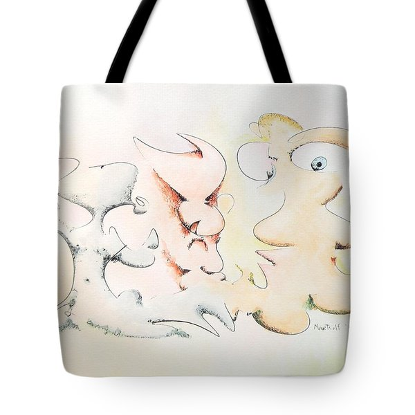 Judging Picasso Tote Bag by Dave Martsolf