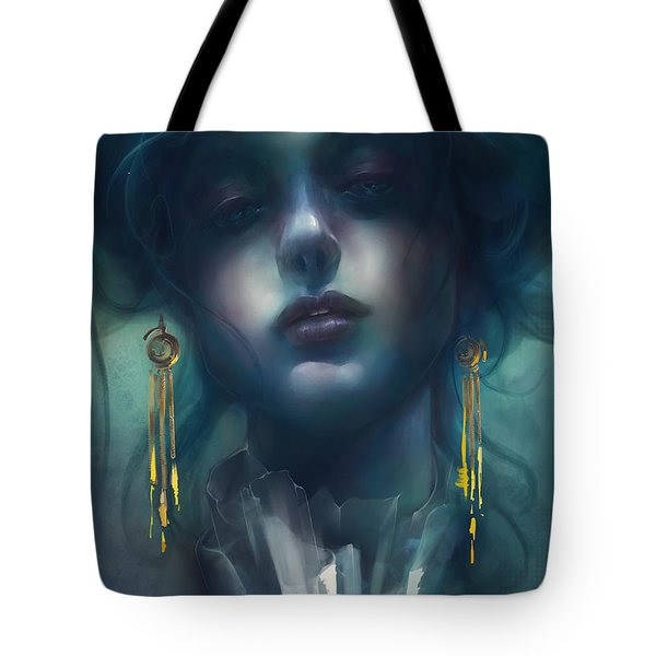 Tote Bag featuring the digital art Judith V1 by Te Hu