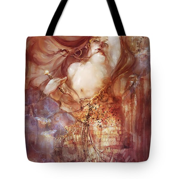 Tote Bag featuring the digital art Judith V2 by Te Hu