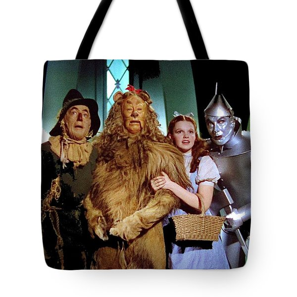 Judy Garland And Pals The Wizard Of Oz 1939-2016 Tote Bag by David Lee Guss