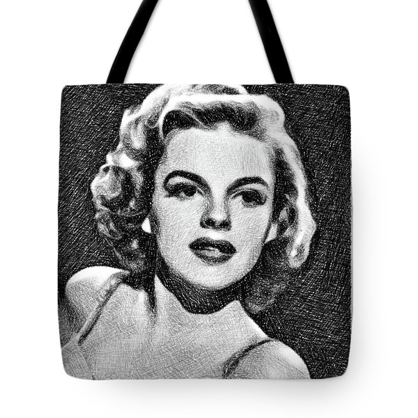 Judy Garland, Vintage Actress By Js Tote Bag