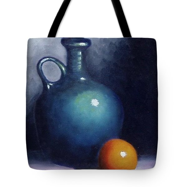Jug And Orange. Tote Bag by Gene Gregory